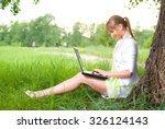 young beautiful business woman...   Shutterstock . vector #326124143