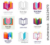 set of book and education icons.... | Shutterstock .eps vector #326124470