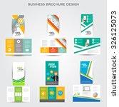 tri fold brochure design vector ... | Shutterstock .eps vector #326125073