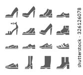 footwear icon set  vector... | Shutterstock .eps vector #326126078