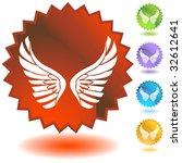 angel wing badge six | Shutterstock . vector #32612641
