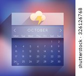 october  2016 ui calendar in...