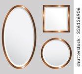 set of 3 copper metallic vector ... | Shutterstock .eps vector #326126906