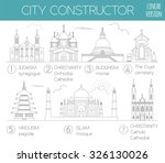 big set city generator. house... | Shutterstock .eps vector #326130026