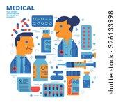 medical  flat design ... | Shutterstock .eps vector #326133998