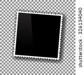 vector photo frame isolated on... | Shutterstock .eps vector #326134040