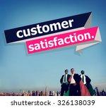 customer satisfaction service... | Shutterstock . vector #326138039