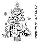 Merry Christmas Lettering In...