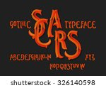 "gothic ""scars"" typeface.... 