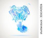 head ganesha   Shutterstock .eps vector #326142026