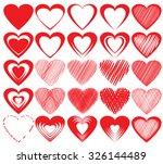 vector hearts set   Shutterstock .eps vector #326144489