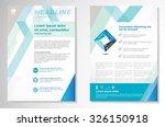 vector brochure flyer design... | Shutterstock .eps vector #326150918