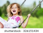 playing child. | Shutterstock . vector #326151434