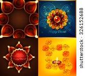 vector collection of diwali...   Shutterstock .eps vector #326152688