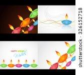 vector set of happy diwali...   Shutterstock .eps vector #326152718