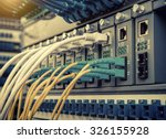 fiber optic switchboard with... | Shutterstock . vector #326155928