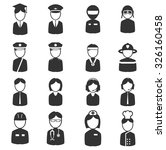 occupation simply icons | Shutterstock .eps vector #326160458