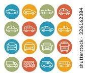 car line icons | Shutterstock .eps vector #326162384