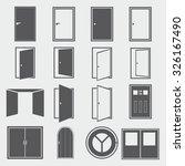 door icons | Shutterstock .eps vector #326167490