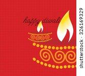 creative lamp diwali concept... | Shutterstock .eps vector #326169329