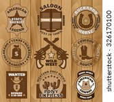 vintage brown wild west badges... | Shutterstock .eps vector #326170100