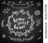 home sweet home  handmade... | Shutterstock .eps vector #326173730