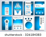 set of brochure  flyers and... | Shutterstock .eps vector #326184383