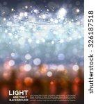 festive light background with... | Shutterstock .eps vector #326187518