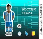 soccer team   honduras....   Shutterstock .eps vector #326188079