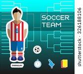 soccer team   paraguay....   Shutterstock .eps vector #326188106