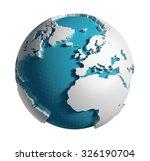 3d generated globe. europe ... | Shutterstock . vector #326190704