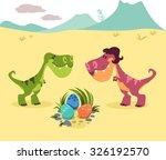 cartoon dinosaurs with three... | Shutterstock .eps vector #326192570