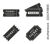 ticket  icon  on white... | Shutterstock .eps vector #326193800