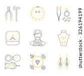 set of jeweler profession...   Shutterstock .eps vector #326194199