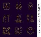 set of jeweler profession... | Shutterstock .eps vector #326194220