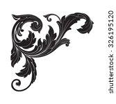vintage baroque frame scroll...   Shutterstock .eps vector #326195120