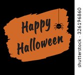 happy halloween text banner | Shutterstock .eps vector #326196860
