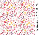 seamless bright floral pattern...   Shutterstock .eps vector #326197100