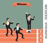 businessman  running winner... | Shutterstock .eps vector #326201186