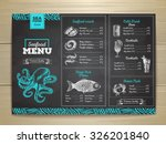 vintage chalk drawing seafood... | Shutterstock .eps vector #326201840