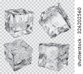 set of four transparent ice... | Shutterstock .eps vector #326202560