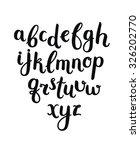 vector hand drawn alphabet on... | Shutterstock .eps vector #326202770