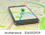 mobile gps navigation  travel... | Shutterstock . vector #326202929