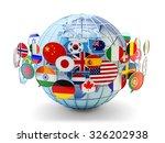global communication ... | Shutterstock . vector #326202938