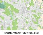 vector city map of leipzig ... | Shutterstock .eps vector #326208110