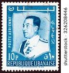 lebanon   circa 1960  a stamp... | Shutterstock . vector #326208446