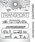 transportation vehicles linear... | Shutterstock .eps vector #326209088