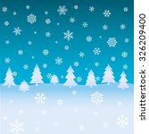 winter background with firs and ... | Shutterstock .eps vector #326209400