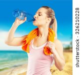 water drinking. | Shutterstock . vector #326210228