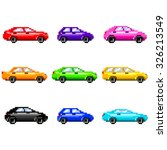 pixel cars for games icons high ... | Shutterstock .eps vector #326213549